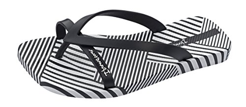 Ipanema Fashion Kirey IV Fem, Tongs femme blanc/noir (white/black)