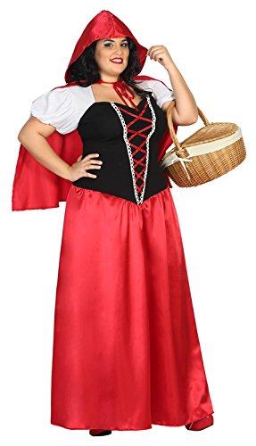 Atosa 31488–Caperucita Roja, para mujer Disfraz, tamaño XXL, 44/46