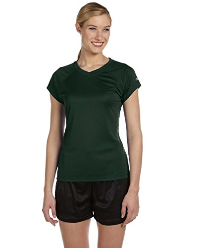 Damen 4 oz.Double Dry Performance T-Shirt, Dunkelgr¨¹n, M (Performance T-shirt Dry Double)