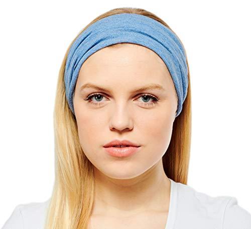 Antonia York Stirnband für Damen Haarband Kopfband Bandana Headwrap (Vichy, Baumwolljersey) Headwrap Tuch