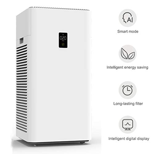 41%2BRJkkEPTL. SS500  - Air Purifier, Automatic Boot Intelligent Digital Display with Hepa Filter for Allergies Eliminator Smokers/Smoke/Harmful Gas - Home Office