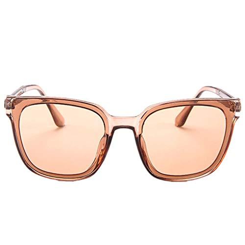 Oversized Sonnenbrille Polarisiert für Damen/Dorical Mode Über-Groß Designer Sonnenbrillen mit UV-400 Schutz Brille/Frauen Metall Rand Brillen Gespiegelte Linse Retro Sunglasses(Rosa)