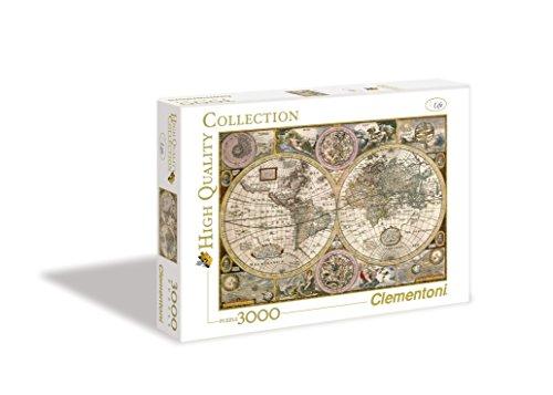Clementoni 33531.2 -  Mappa Antica, 3000 teilig (3000 Weltkarte-puzzle)