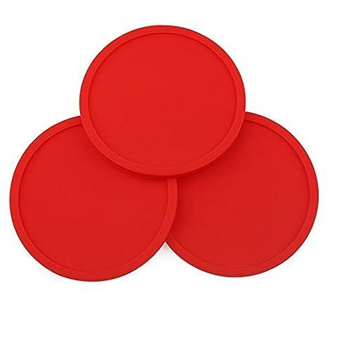 5pce concave Dessous-de-verre (épais) Dessous de Verre en silicone, l'isolation Dessous-de-verre 10,2cm Giant ANT Red