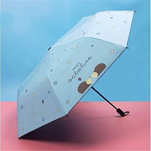 BBQBQ Sonnenschirm Regenschirm Vinyl Anti-UV-Regenschirm himmelblau (Mini Bulk Fußbälle)