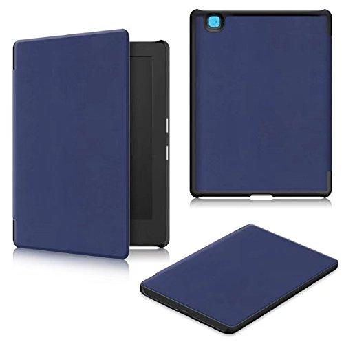 étui Kobo Aura H2O Edition 2,Coque Kobo Aura H2O Edition2 - PU Cuir Cover Case Etui Flip Housse pour Liseuse Kobo Aura H2O (Edition 2) de 6,8 Pouces Coque de Protection,*Bleu marine
