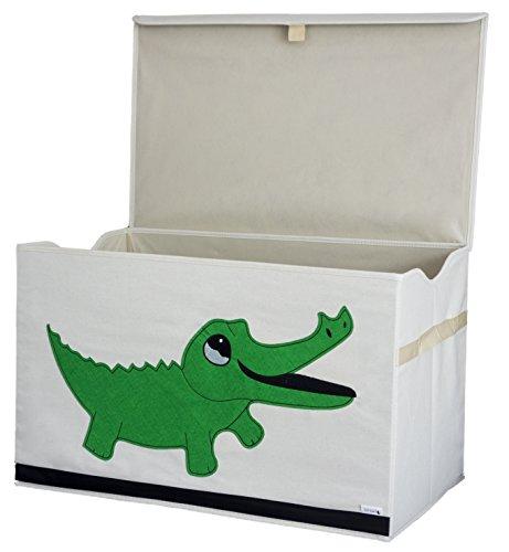 Cofre de Almacenamiento / Caja / Organizador – Diseño de Cocodrilo – Tela de Lona Reforzada Duradera – 61x38x37cm – Gran Capacidad de Almacenamiento –El Cofre de Animales Perfecto de Almace