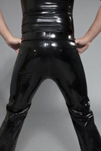 """Herren Rubber Jeans Levis 501 Style Black von """"Mr. B."""" Größe Large"""