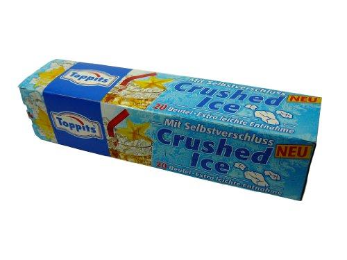 """Eiswürfelbeutel """" Crushed Ice """" mit Selbstverschluss, 20 Beutel, Party, kühle Getränke, Caipirinha, Eiskugeln"""
