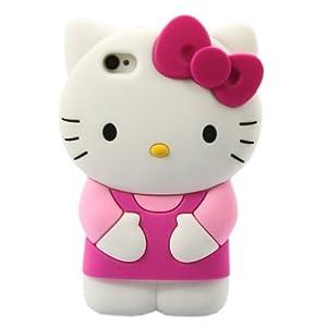 Neu 3d hello kitty apple iphone 4 4s silikon h lle schutzh lle rosa elektronik - Hello kitty fernseher ...