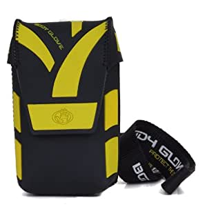 Body Glove Etui fashion super micro noir/jaune vif pour appareil photo (Import Royaume Uni)