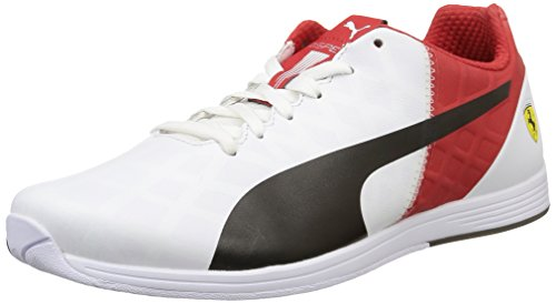Puma  evoSPEED 1.4 SF, Sneakers basses mixte adulte Blanc (White/Black/Rosso Corsa)