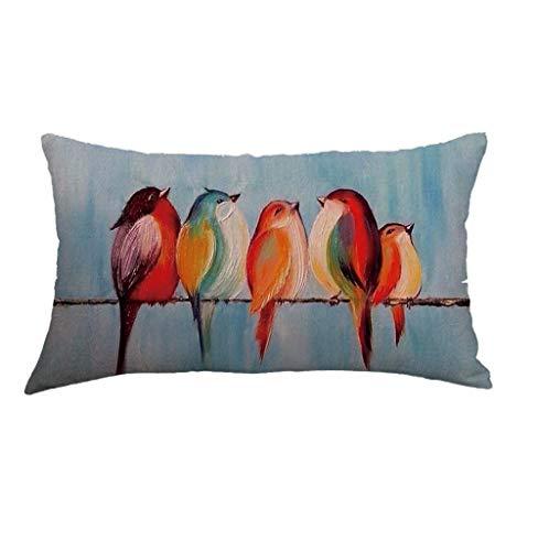 DOLDOA Haushalt Wohnen,Geometrisches Muster Leinen Hug Kissenbezug Sofakissenbezug Home Decoration (MehrfarbigC)