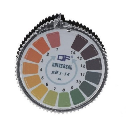 pH-Indikator Lackmus-Test Papier-Streifen Roll, 1-14 Für Wasser Urin und Speichel - 5 Meter (Ph-papier-teststreifen Labor)