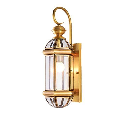 LEI ZE JUN UK- Style européen Toutes les lampes en cuivre Applique Éclairage allée Éclairage du balcon Éclairage du couloir Éclairage extérieur Éclairage du jardin Lampe de chevet Applique