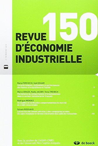 Revue d'economie industrielle : N° 150 2015/2