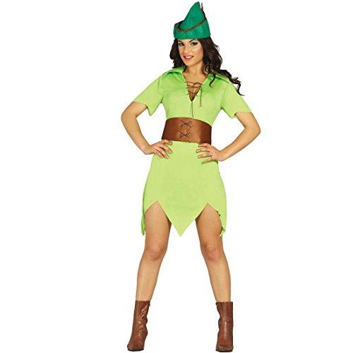 Costume medievale viandante dei boschi vestito da arciere donna s 40/42 travestimento robin hood donna outfit festa a tema fiabe mascheramento di carnevale ragazza della foresta abito medioevo festa