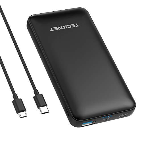 TeckNet da 10.000mAh - Power Bank Caricabatterie Portabile con doppia uscita porta USB e tecnologia BLUETEK