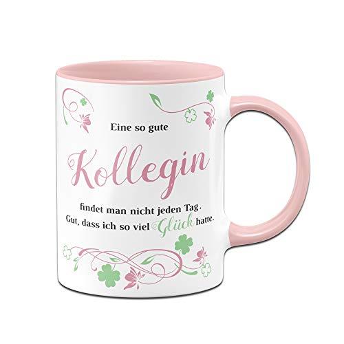 Tasse Eine so Gute Kollegin findet Man Nicht jeden Tag - Bürotasse - Geschenk für Kollegin - Arbeitskollegin - rosa