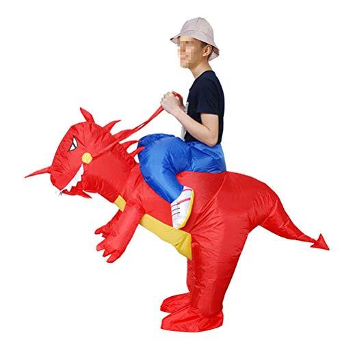 TOYMYTOY Aufblasbare Kostüme Dinosaurier für Erwachsene Halloween Party Cosplay ()