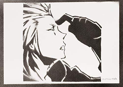 Axel Kingdom Hearts Poster Plakat Handmade Graffiti Sreet Art - Artwork (Rechts Kostüm)