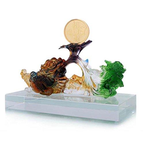 Glas Gold Kröte Dekoration Home Wohnzimmer Weinschrank Büro Desktop Feng Shui Dekorationen Einrichtung (Erwachsene Kröte Kit)