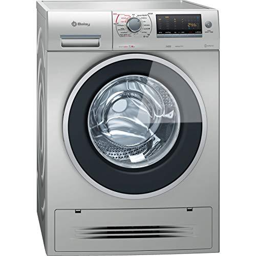 Balay 3TW976XA Independiente Carga frontal A Acero inoxidable lavadora - Lavadora-secadora (Carga frontal, Independiente, Acero inoxidable, Izquierda, Botones, Giratorio, LED)