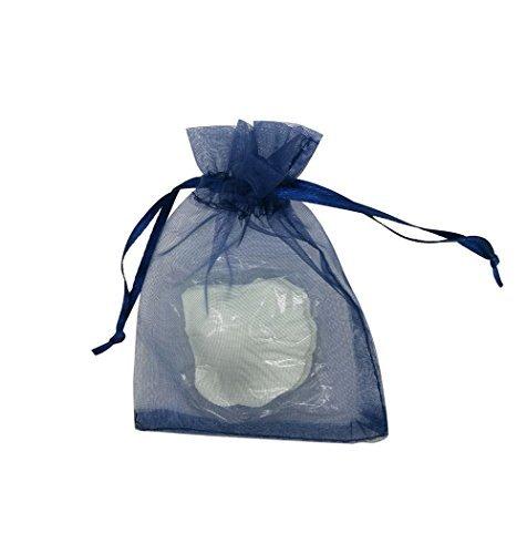 SUNGULF 100Organza Kordelzug Beutel Hochzeit Geschenk Taschen 7,6x 10,2cm (Navy Blau)
