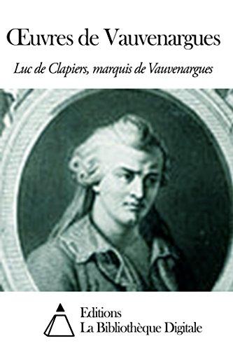 Œuvres de Vauvenargues (French Edition)