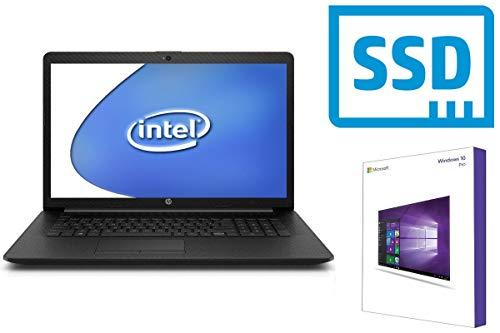Notebook HP 17-by - 8GB RAM - 128GB SSD - CD/DVD Brenner - 44 cm (17.3 Zoll) Matt - Windows 10 Pro 64BIT