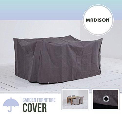 Madison Atmungsaktive und Wasserabweisende Schutzhülle in anthrazit für Gartenmöbel oder Lounge...