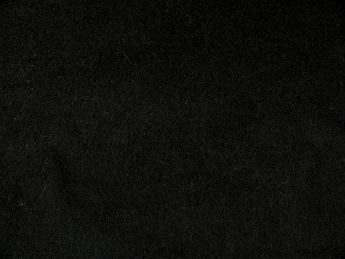 Bühnenmolton, schwer entflammbar, schwarz, 300cm