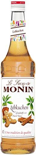 Monin Sirup Lebkuchen I Mit Ingwer und Zimt Aroma I Perfekt im Winter und zu Weihnachten für alle Heißgetränke I 0,7l Glasflasche Monin Pumpkin Spice