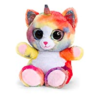 Keel Toys Animotsu 15cm Unicorn Cat / Kitten Beanie Cuddly Soft Toy Plush SF2256