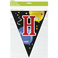 Unique Party 14ft Plastic Happy Birthday Bunting Flags