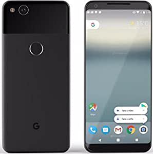 """Pixel 2 XL Phone (2017) by Google, 128GB G011C, 6"""" inch Factory Unlocked Android 4G/LTE Smartphone (Just Black)"""