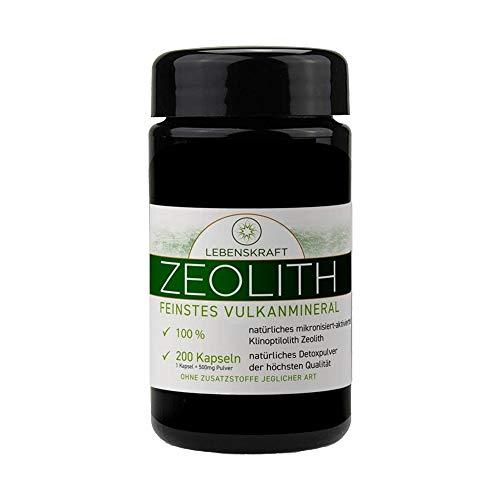 Lebenskraft Zeolith Kapseln 200er Glas, Klinoptilolith aus europäischem Vulkangestein, ultrafein, mikronisiert, aktiviert -
