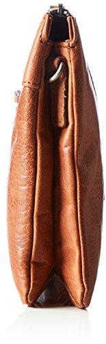 Spikes & Sparrow - Zip Bag, Borse a tracolla Donna Marrone (Brandy)
