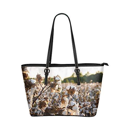 aumwolle Große weiche Leder Tragbare Top Hand Totes Taschen Kausale Handtaschen mit Reißverschluss Schulter Einkaufstasche Geldbeutel Organizer für die Arbeit von Lady Girls Womens ()