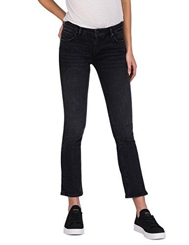 Replay Damen DOMINIQLI Flared Jeans, Schwarz (Black 98), W28/L30