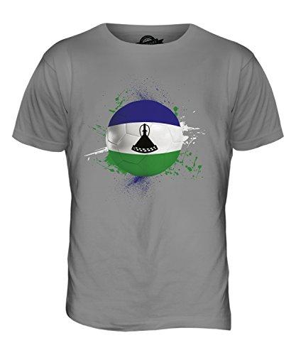 CandyMix Lesotho Fußball Herren T Shirt Hellgrau