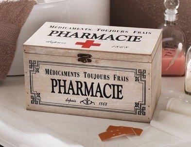 "Deko-Box Medikamentenbox ""Pharma"" Pillenbox Apothekenbox Aufbewahrungsbox Medikamentenaufbewhrung"