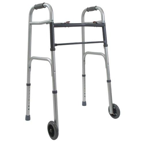 DMI - Andador plegable con ruedas (aluminio)