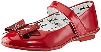 Minnie Girl's Red Ballet Flats-5 Kids UK/India (22 EU) (MMPGBE0277)