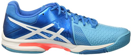 Asics Unisex-Erwachsene Gel-Blast 7 Gymnastik Blu (Blue Jewel/White/Flash Coral)