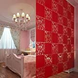 Brand New Alcoa Prime 4Pcs Room Divider Folding Screens Space Partition Wall Haning Decor Red