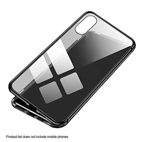 Doppelseitig gehärtetes Glas magnetische Metallgehäuse Telefonkasten kompatibel für iPhone XS Max Innovative