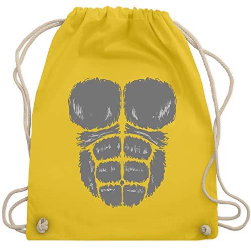Karneval & Fasching - Gorilla Kostüm Fasching - Unisize - Gelb - WM110 - Turnbeutel & Gym Bag (Gelbe Gorilla Kostüm)