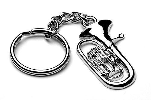 Euphonium Tuba Silber Metall Musik Schlüsselanhänger