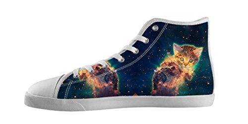 Dalliy Galaxie Katze Galaxy Cat Men's Canvas shoes Schuhe Lace-up High-top Footwear Sneakers Segeltuchschuhe B